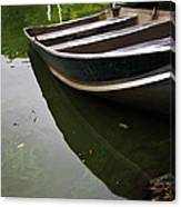 Docked In Central Park Canvas Print