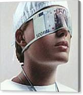 Doctor Blinded By Money, Conceptual Image Canvas Print