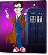 Doctor Who And Tardis Canvas Print
