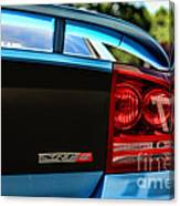 Dodge Charger Srt8 Rear Canvas Print