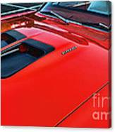 Dodge Super Bee Hood  In Red Canvas Print