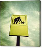Dog Fouling Sign Canvas Print