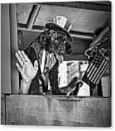 Dog On The Campaign Trail Canvas Print