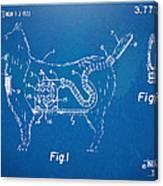 Doggie Vacuum Patent Artwork Canvas Print