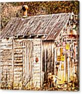 Dogs Back At The Cabin Canvas Print