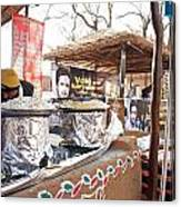 Doing Vendor Duty At Food Stalls In The Surajkand Mela Canvas Print