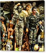 Doll - Gi Joe In Camo Canvas Print