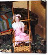 Doll In Carriage Canvas Print