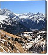 Dolomite's landscape Canvas Print
