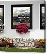 Dolomiti On Spring Canvas Print