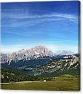 Dolomiti's Panoramic Canvas Print