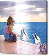 Dolphin Family Canvas Print