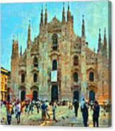 Dome In Milan Canvas Print