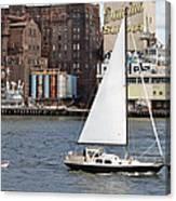 Domino Sugar Sailing Canvas Print
