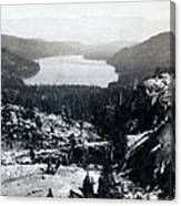 Donner Lake - California - C 1865 Canvas Print