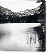 Donner Lake And Pass - California - C 1865 Canvas Print
