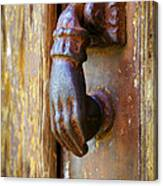 Door Knocker Canvas Print