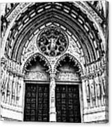 Doors To Saint John The Divine Canvas Print
