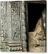 Doorway Ankor Wat Canvas Print