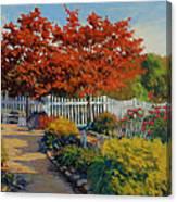 Dotti's Garden Autumn Canvas Print