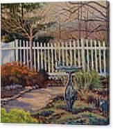 Dotti's Garden Winter Canvas Print