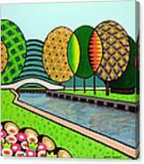 Doty Park Fluorescent Canvas Print