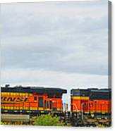 Double Bnsf Engines Canvas Print