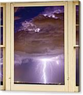 Double Lightning Strike Picture Window Canvas Print