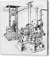 Double Oscillating Steam Engine Canvas Print