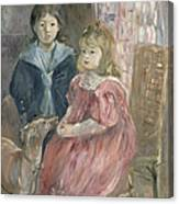 Double Portrait Of Charley And Jeannie Thomas Canvas Print
