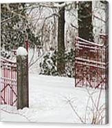 Double Red Iron Gates Canvas Print