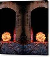 Double Tunnel On Fire Canvas Print