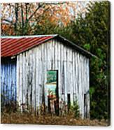 Down On The Farm - Old Shed Canvas Print