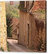 Down The Lane In Beynac France Canvas Print