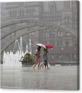 Downpour In Toronto Canvas Print