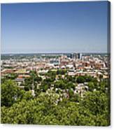 Downtown Birmingham Alabama On A Clear Day Canvas Print
