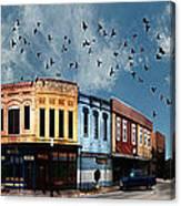 Downtown Bryan Texas 360 Panorama Canvas Print