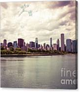 Downtown Chicago Skyline Lakefront Canvas Print