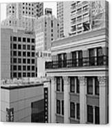 Downtown San Francisco Buildings - 5d19323 - Black And White Canvas Print