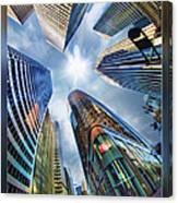 Downtown Sunstream Canvas Print