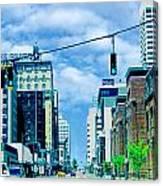 Downtown Union Ave Memphis Tn Canvas Print