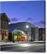 Downtown Waterville At Christmastime Canvas Print