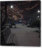 Downtown Winter Canvas Print