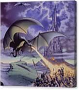 Dragon Combat Canvas Print