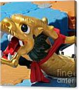 Dragon Figurehad Of A Chinese Boat Canvas Print