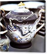Dragon Satsuma Bowl Canvas Print