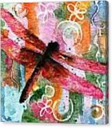 Dragonfly Fairy I Canvas Print