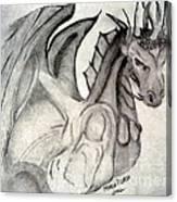 Dragonheart - Bw Canvas Print