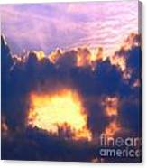 Dramatic Cloud And Sun Formation Canvas Print