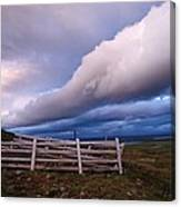 Dramatic Cloud Formations Canvas Print